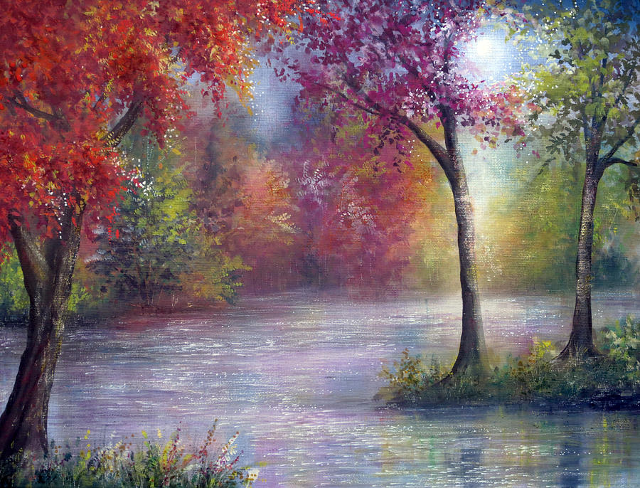 Hand Painted Painting - Ambience by Ann Marie Bone