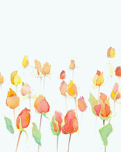 Watercolor Painting - Ambient Roses by Jeffrey Hicks