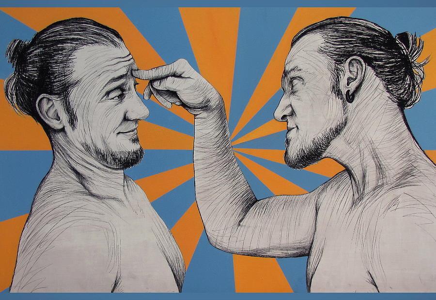 Portrait Painting - Ambiface 1 by Jovana Kolic