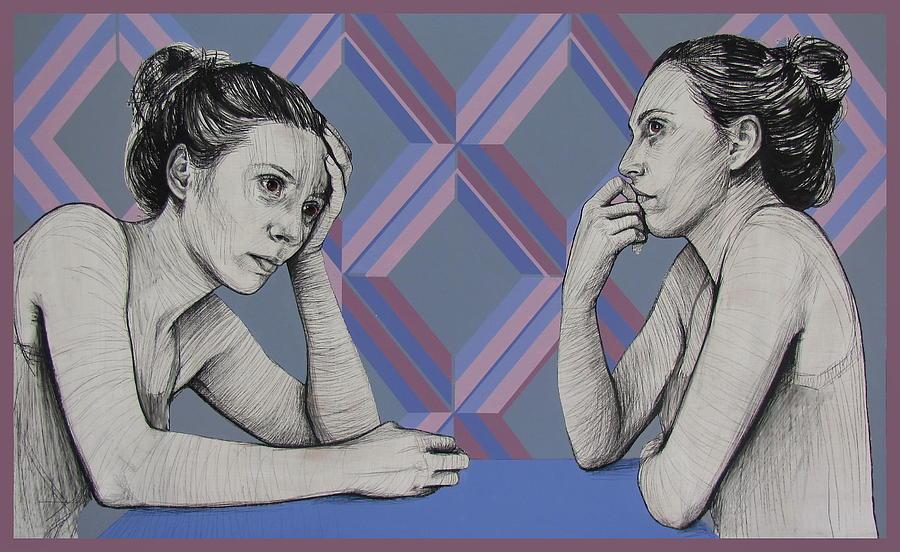Portrait Painting - Ambiface 4 by Jovana Kolic