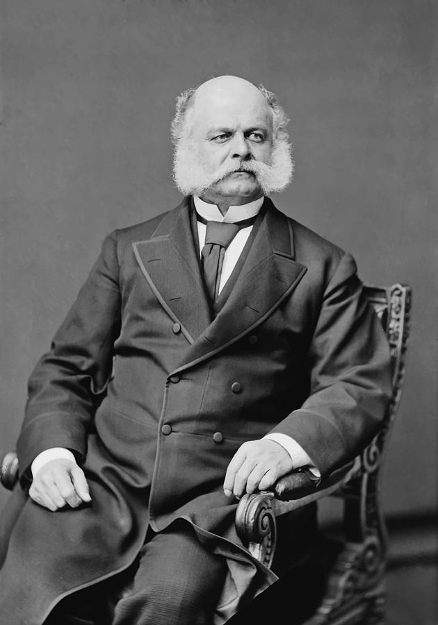 Ambrose Burnside Photograph - Ambrose Burnside And His Sideburns by War Is Hell Store