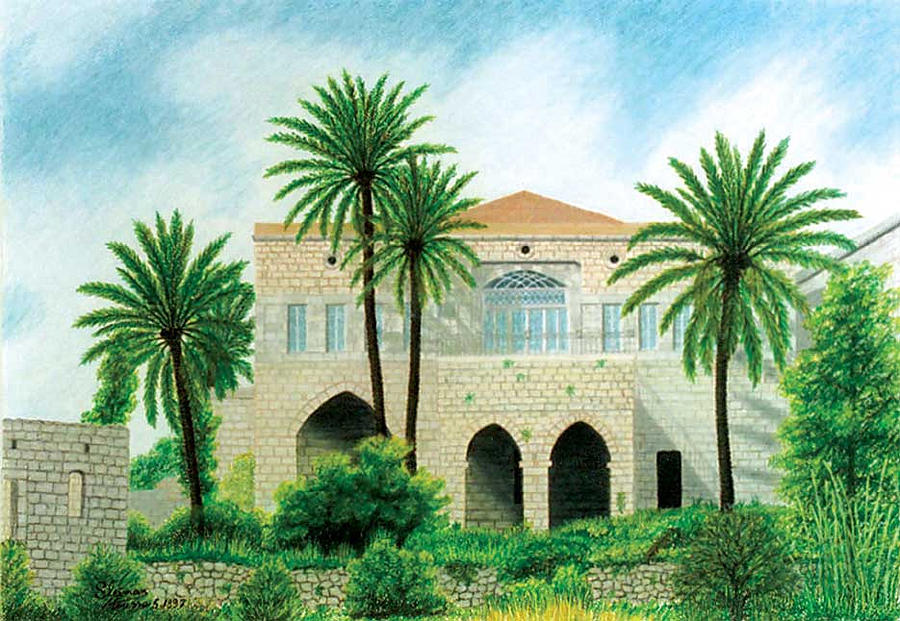 House Painting - Amchit by Sleiman Moussa