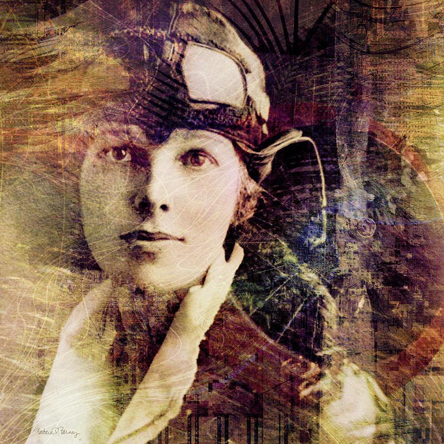 Amelia Earhart Digital Art - Amelia by Barbara Berney