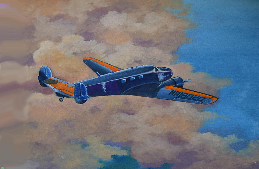Aviation Artwork Painting - Amelia Earheart by Murray McLeod