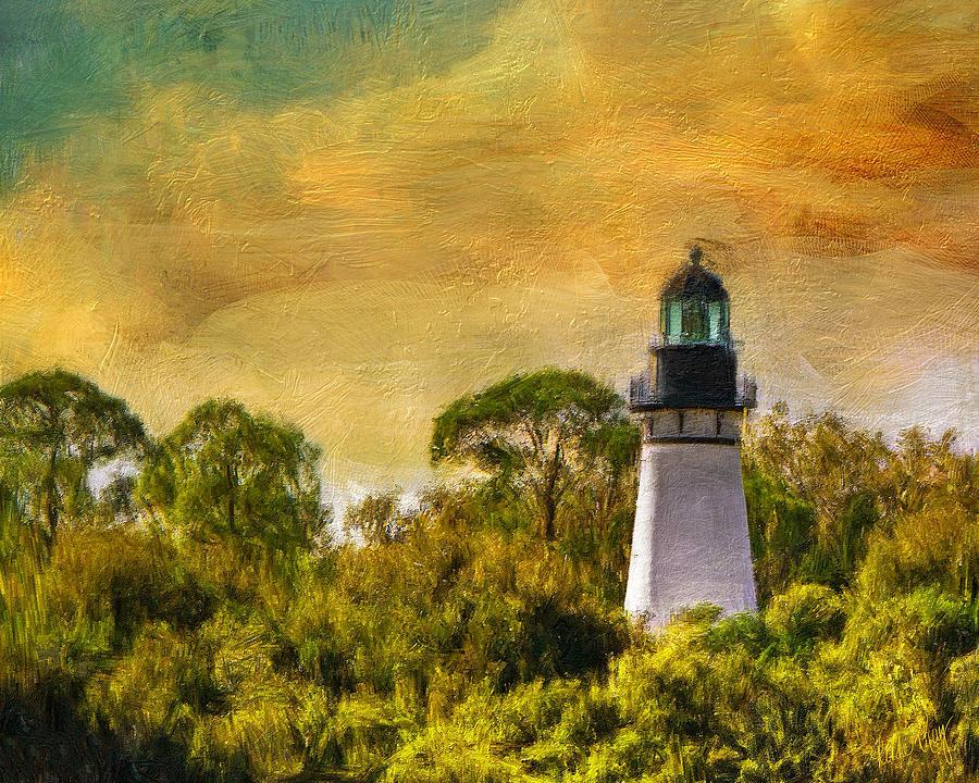Amelia Island Lighthouse 8896 Digital Art