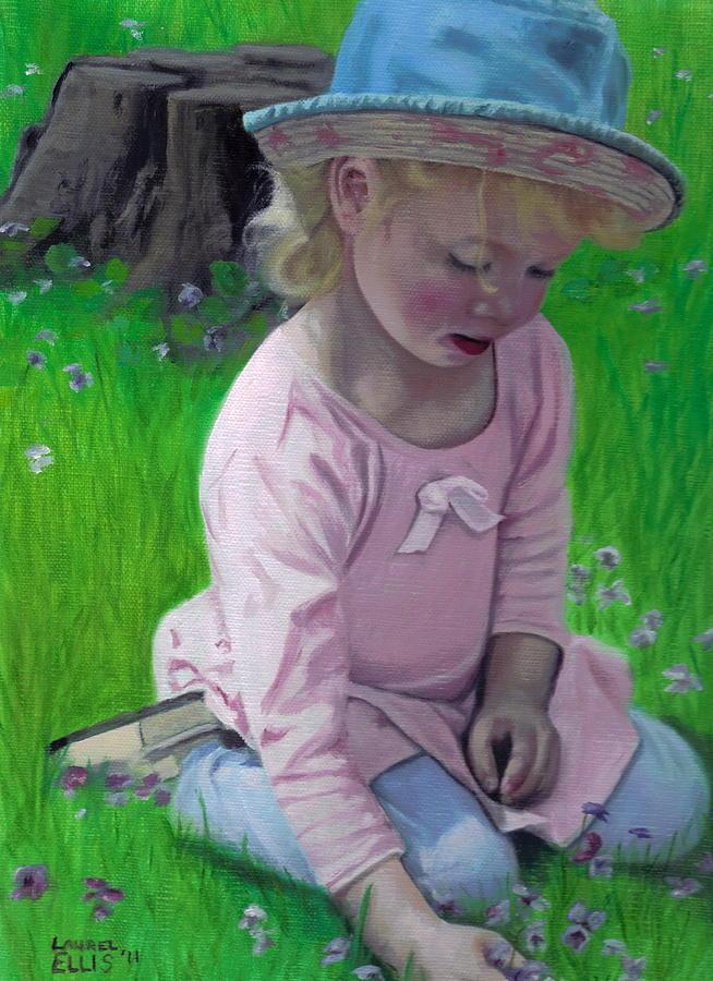 Girl Painting - Amelia by Laurel Ellis