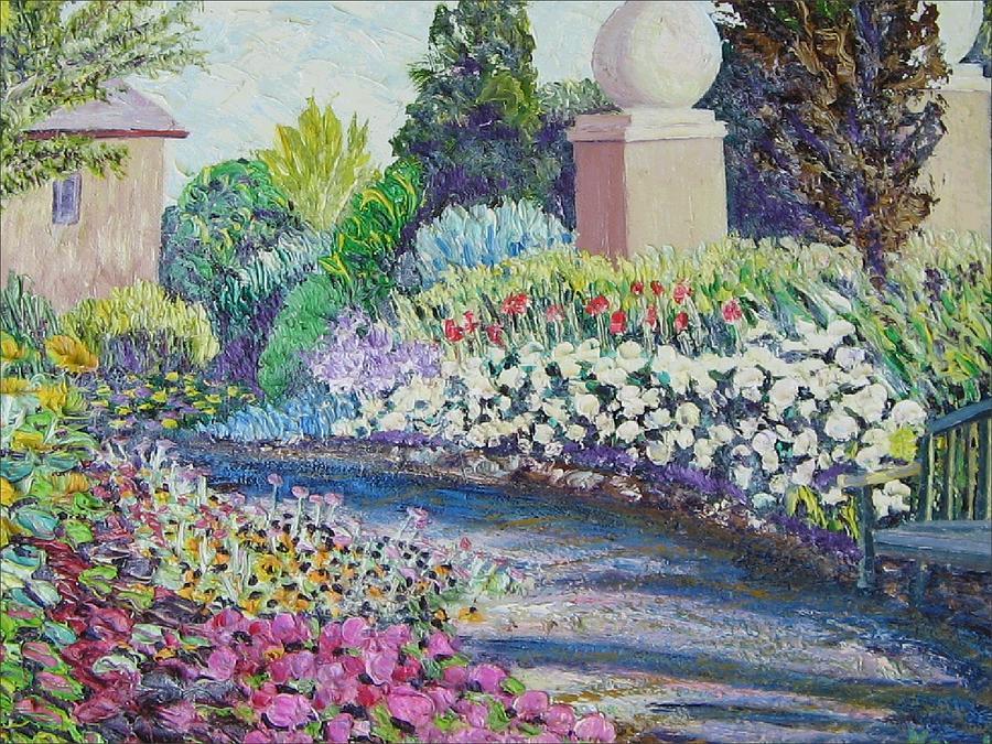 Flowers Painting - Amelia Park Pathway by Richard Nowak
