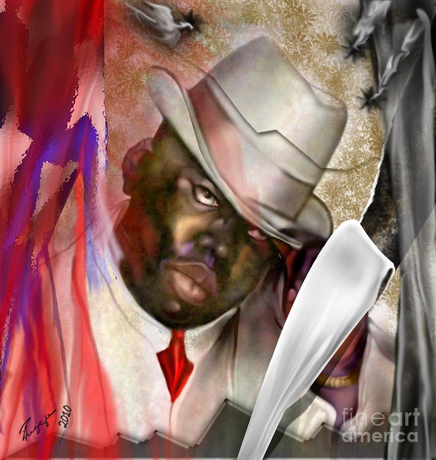 Notorious Big Painting - America Brainchild by Reggie Duffie