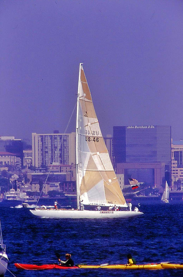 San Diego Photograph - America II  by Bill Mollet