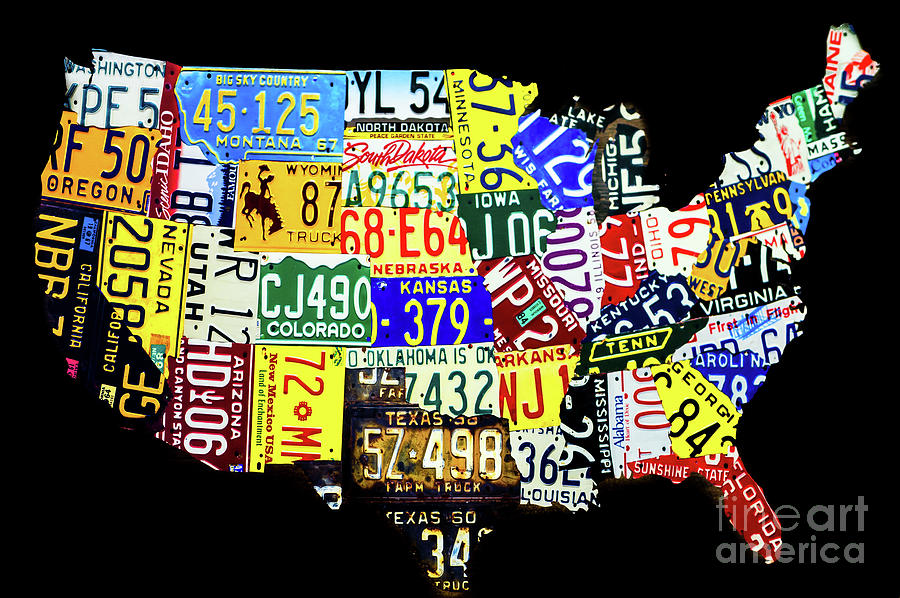 Us License Plate Map Photograph By Miles Whittingham - Us-map-license-plates