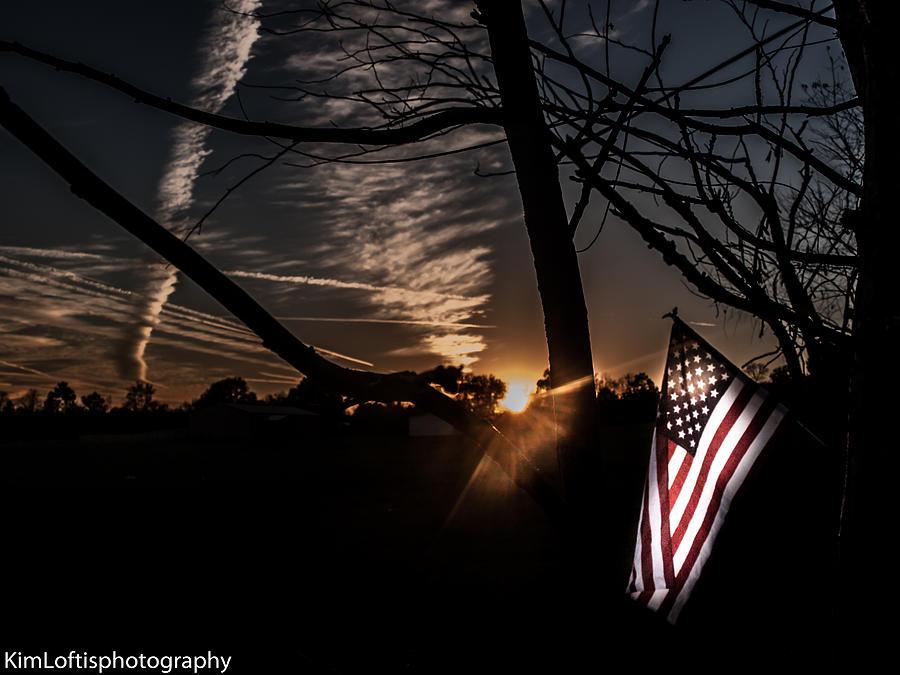 Sunrise Photograph - America  by Kim Loftis