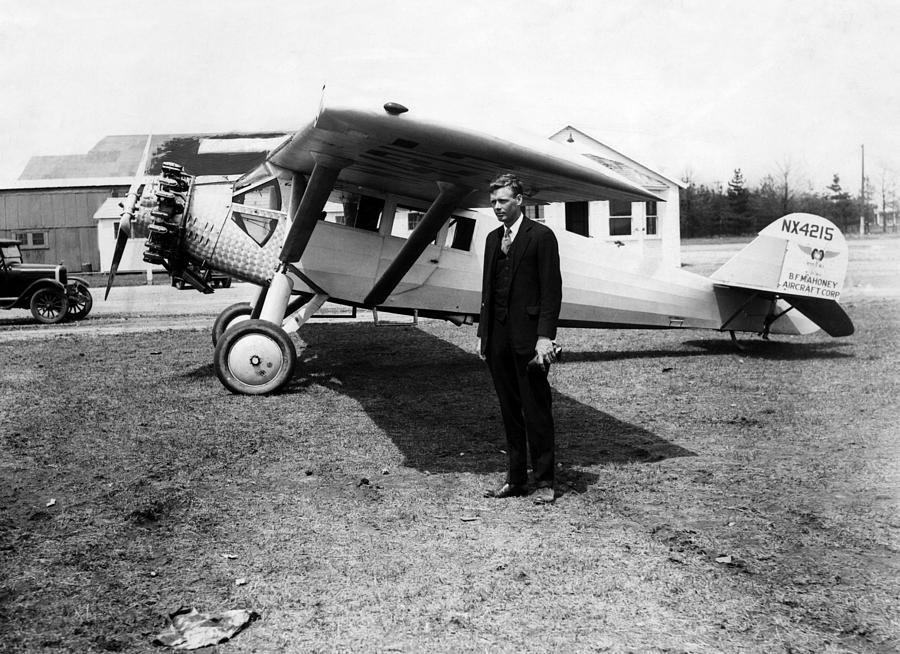 1920s Candid Photograph - America Pilot Charles Lindbergh by Everett