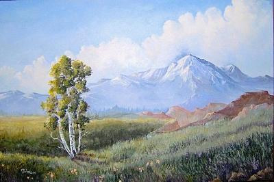 Colorado Painting - America The Beautiful  by Cookie Johnson