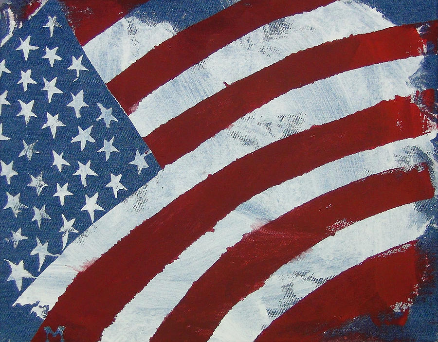 America Painting - America the Beautiful by Candace Shrope