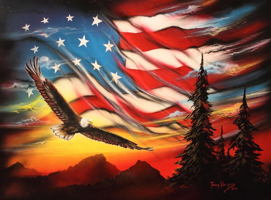 america painting by tony vegas