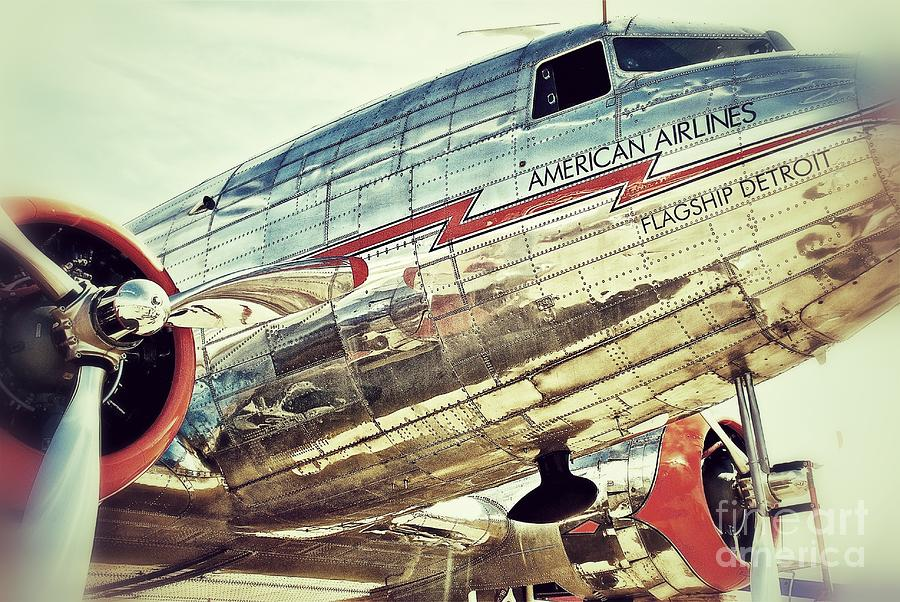 Original Photograph - American Airlines by AK Photography