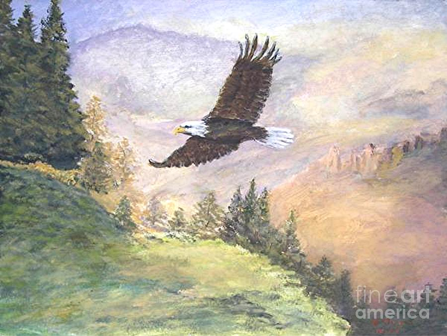 Landscape Painting Painting - American Bald Eagle by Nicholas Minniti