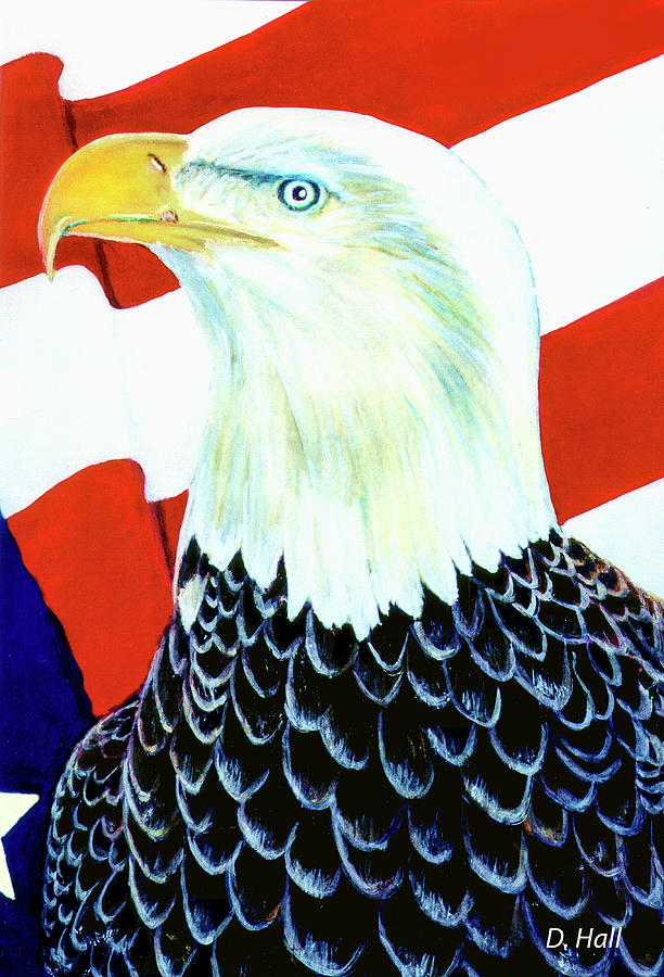 American Bald Eagle Painting - American Bald Eagle Painting #256 by Donald k Hall