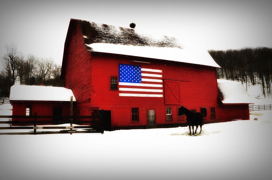 America Photograph - American Barn by Bill Cannon