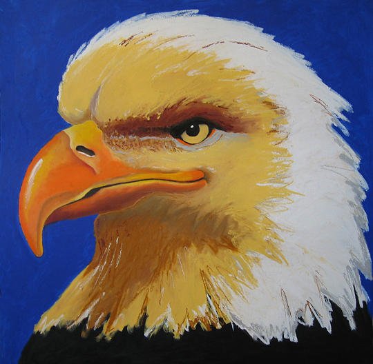 Bald Eagle Painting - American Beauty by Brenda Wolf