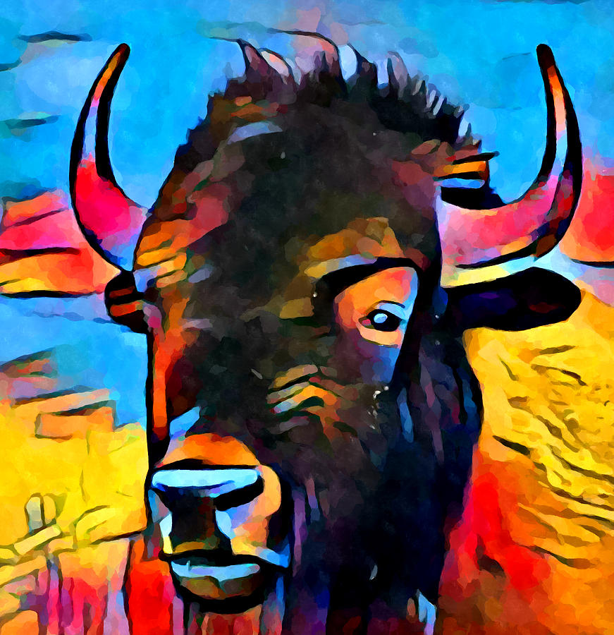 Bison Painting - American Bison by Chris Butler