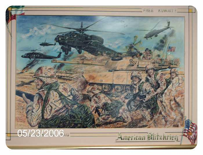 American Blitzkrieg Drawing by James Beal