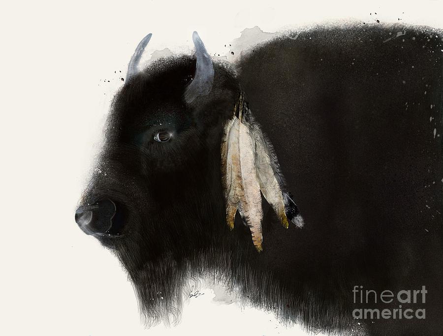 Buffalo Painting - American Buffalo by Bri Buckley