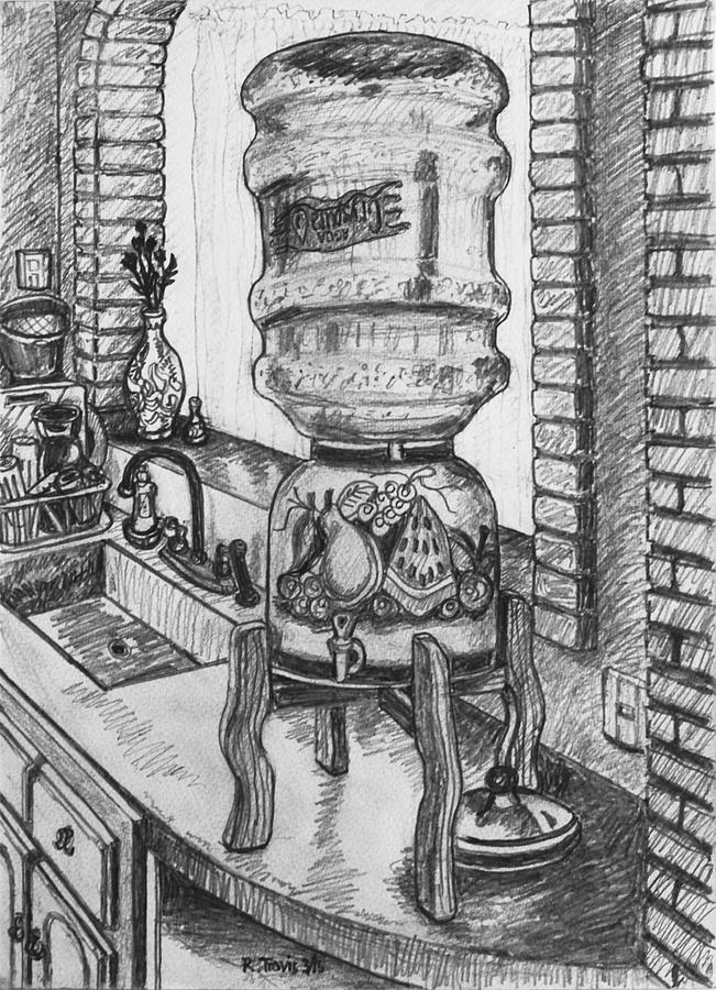 Kitchen Drawing - American Champagne by Rich Travis