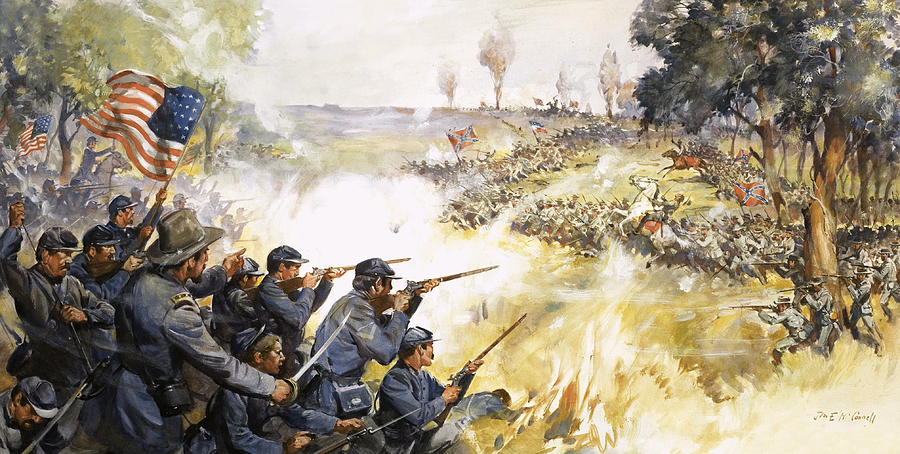 American Civil War Battle Paintings - Now is the Pinch by ... |American Civil War Battle Paintings