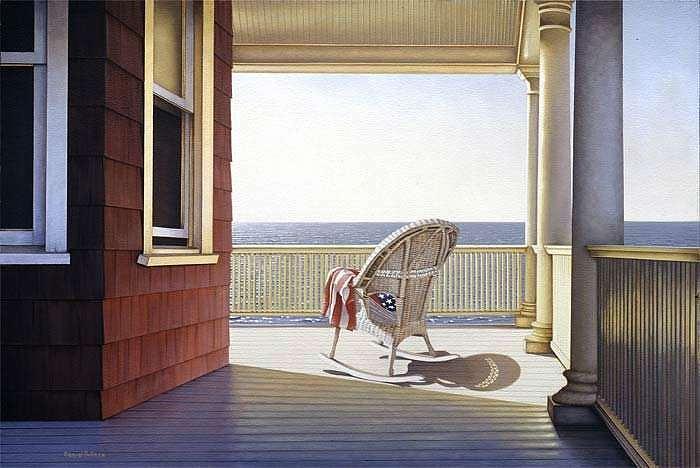 Porch Print - American Coast by Daniel Pollera