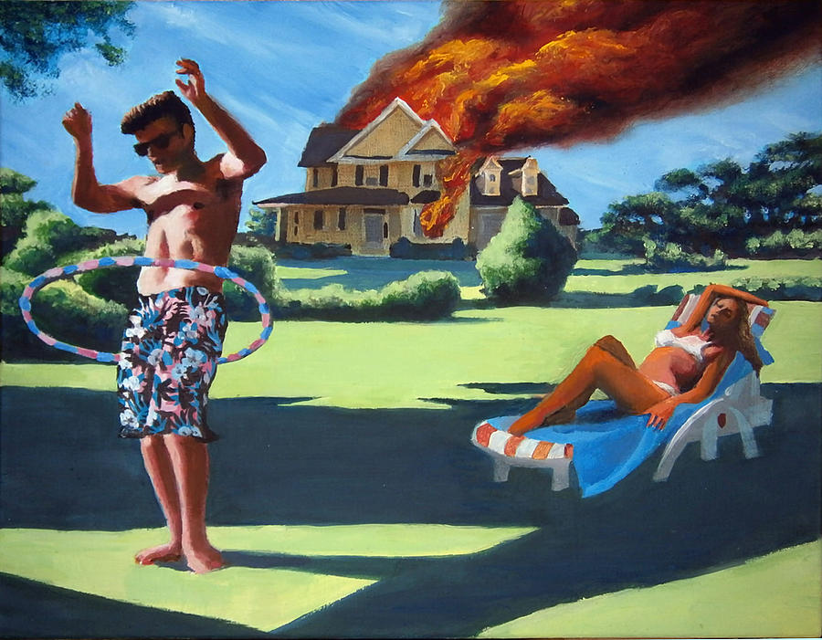 Man Painting - American Couple Redux by Geoff Greene