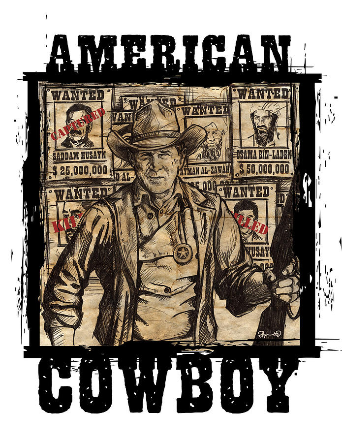 President Digital Art - American Cowboy by US Amazing