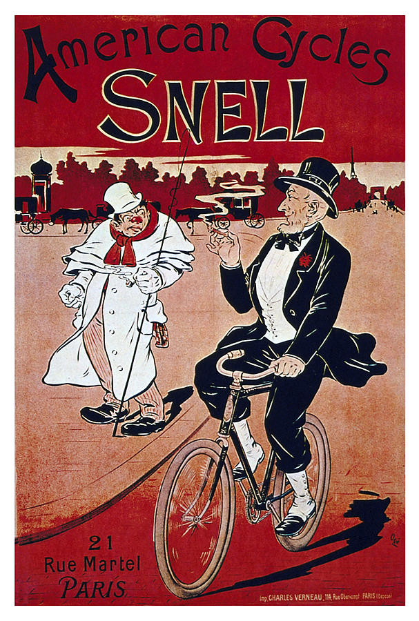 Vintage Mixed Media - American Cycles Snell - Bicycle - Vintage Advertising Poster by Studio Grafiikka