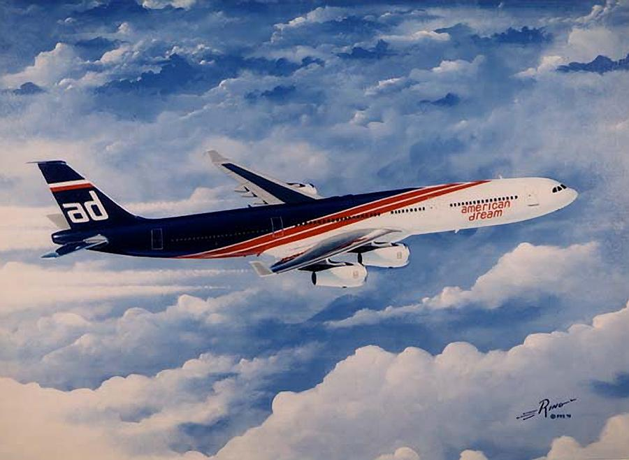 Airbus Painting - American Dream by Peter Ring Sr