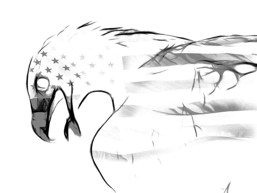 Symbol Photograph - American Eagle Black And White by Melanie Viola
