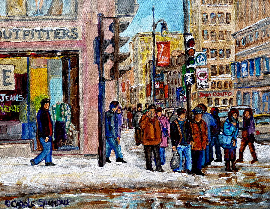 American Eagle Outfitters Painting - American Eagle Outfitters by Carole Spandau