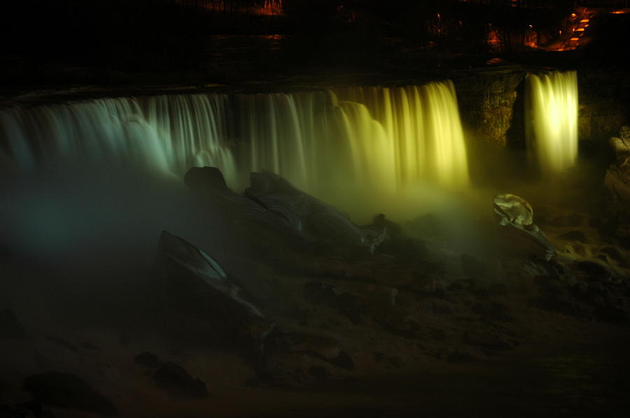 Niagara Photograph - American Falls Night View by Rick Couper