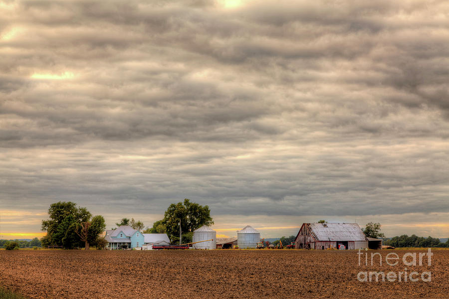 Driving Photograph - American Farm  by Larry Braun
