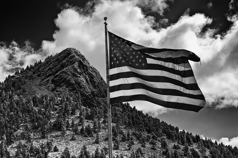 Flag Photograph - American Flag Bailey CO by Mark Courage