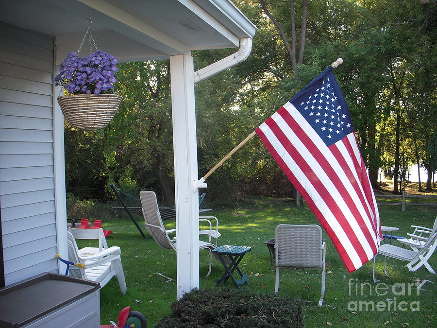 American Flag Photograph by Deborah Finley