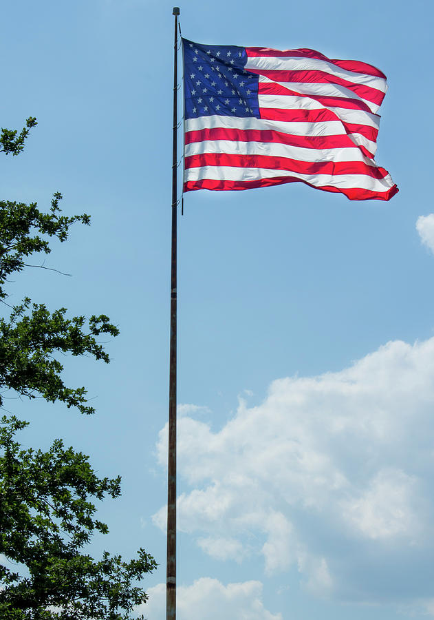 Flag Photograph - American Flag Flying Proud by By Way of Karma