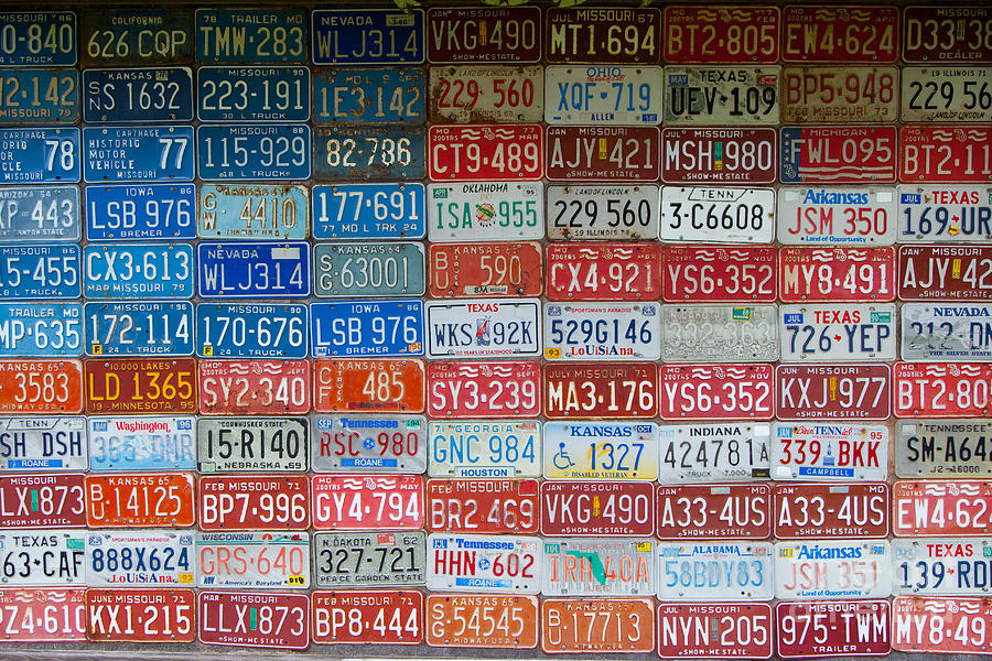American Flag Made From Car Tags At Red Oak Ii Carthage
