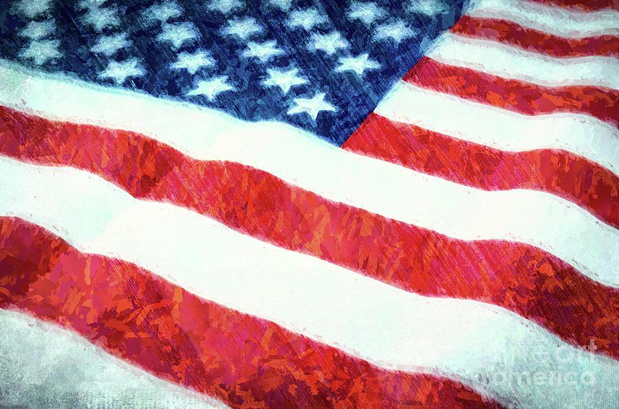 American Flag Textured Photograph