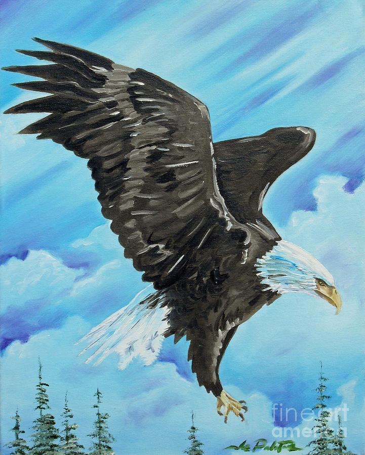 Bald Eagle Painting - American Flight by Joseph Palotas