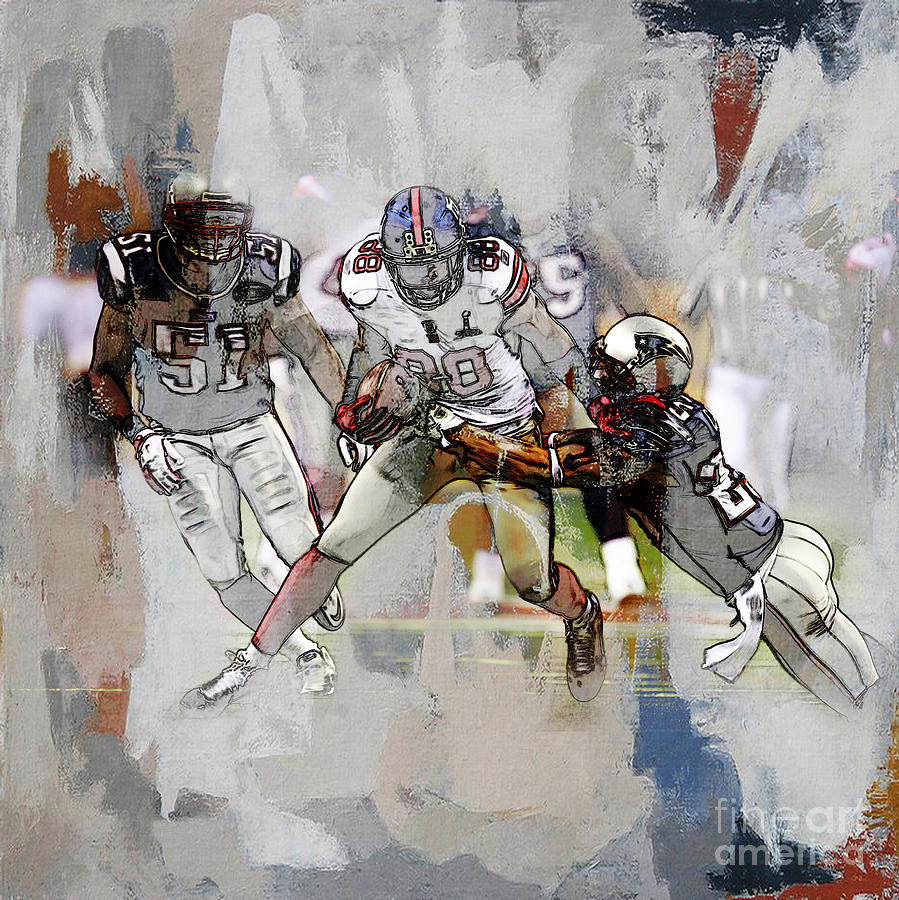 Russell Wilson Painting - American Football 02c by Gull G