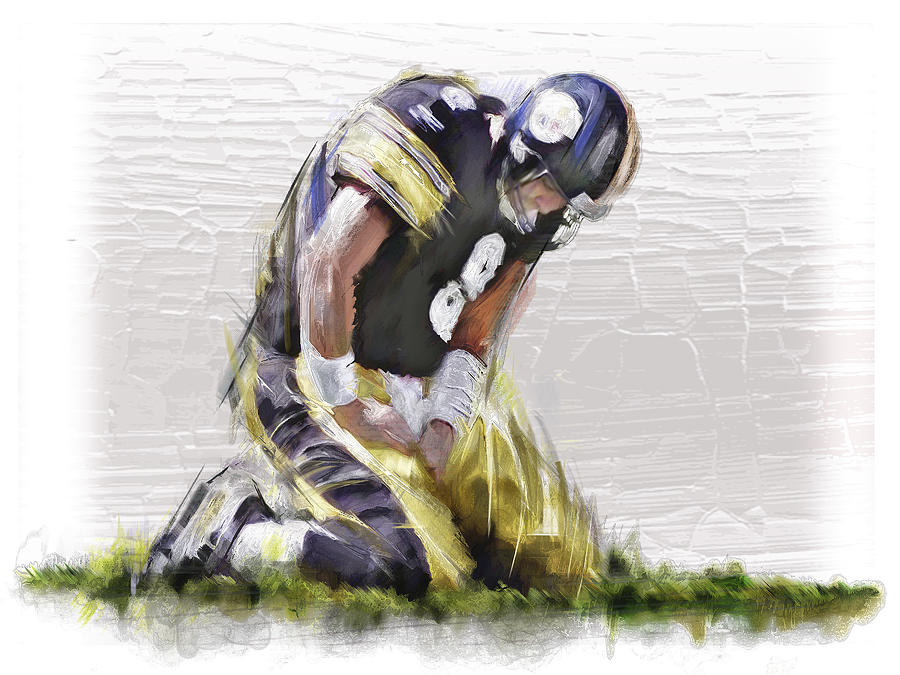 American Football Artwork: American Football Painting By James Robinson
