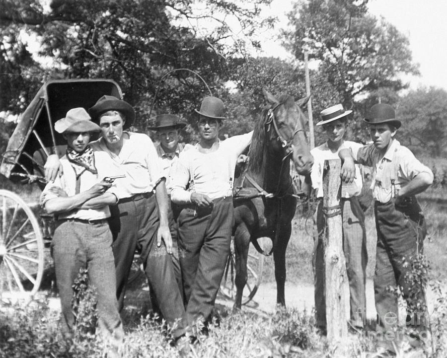 1900 Photograph - American Gang, C1900 by Granger