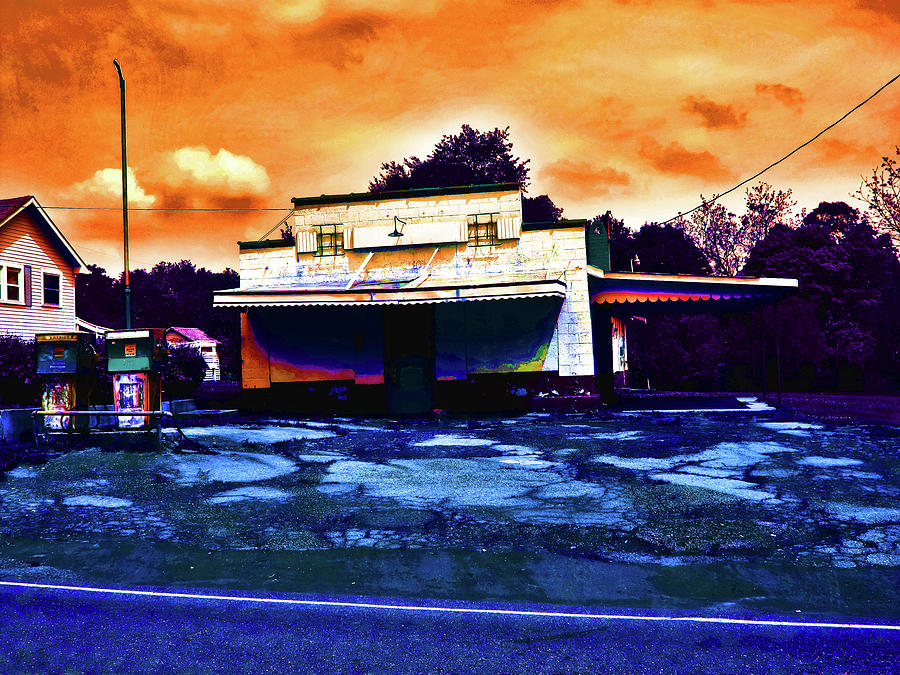 Old Buildings Photograph - American Gas by David A Brown