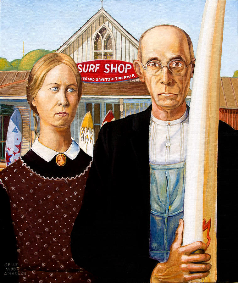 Painting Painting - American Gothic - Amadeus Series by Dominique Amendola