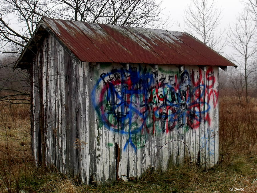 American Photograph - American Graffiti 4   Zig Zag Man by Ed Smith